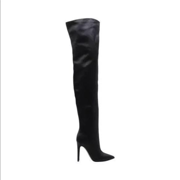 d523569d9c Kendall & Kylie Shoes   Kendall Kylie Alexx 2 Satin Thighhigh Boot ...